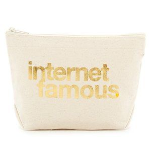 NWT Dogeared Internet Famous Makeup Lil Zip Pouch